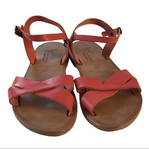 Joie a La Plage Leather Sandals in Coral